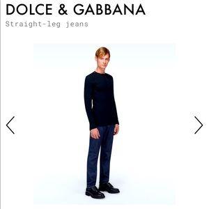 Dolce & Gabbana Straight Leg Jean